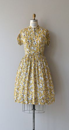 Sensommeren dress vintage 1950s dress rayon 50s by DearGolden