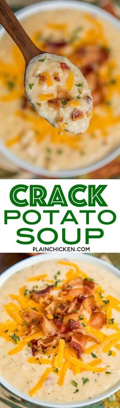 Slow Cooker Crack Potato Soup