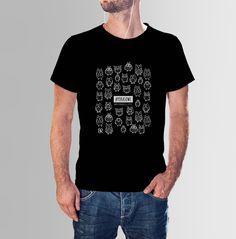 #POKASOWE mi - czarna koszulka z sowami