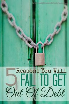 Reasons You Will Fail To Get Out Of Debt - Struggling with your finances can be so frustrating, especially when you continue to fail at getting out of debt. Read the reasons why people fail to get out of debt.