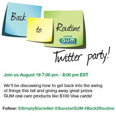 Sunstar GUM #Back2Routine Twitter Party - Simply Stacie