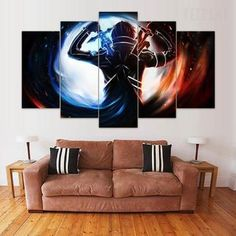 Home & Garden Painting & Calligraphy Home Decor Canvas Pictures Paintings 5 Pieces Asuna Sword Art Online Wall Art Prints Poster Modern Hotel Modular Living Room For Fast Shipping