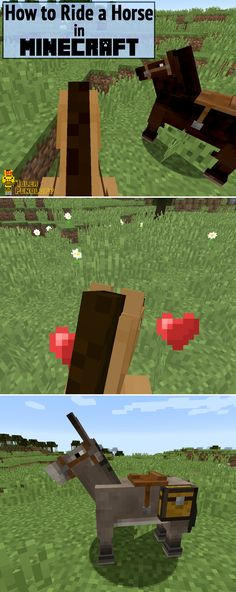 I love to ride horses in video games, so when I found out you could ride a horse in Minecraft, I had to learn how. Here are instructions for taming and riding a horse!