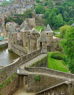 Castle Ramparts, Brittany, France by The Infinite Gallery
