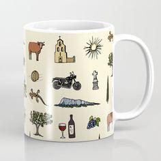 South of France pattern Coffee mug South Of France, Graphic, Coffee Mugs, Patterns, Tableware, Pattern, Block Prints, Dinnerware, Coffee Cups
