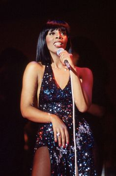 Donna Summer performs on stage in Washington USA 1978