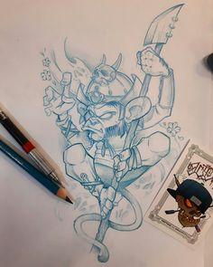 Monkey on needle back tattoo sketches, tattoo drawings, cool drawings, body art tattoos Tattoo Sketches, Drawing Sketches, Tattoo Drawings, Art Tattoos, Graffiti Drawing, Graffiti Art, Cartoon Styles, Cartoon Art, Desenho New School