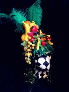 Fruit hat headress carmen Miranda fun Multicolored by Fumbalinas, £100.00