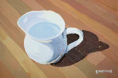 White pitcher by Elizabeth Mayville - GOUCHE