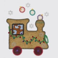 Accuquilt Go! Christmas Train Applique Set - Large | What's New | Machine Embroidery Designs | SWAKembroidery.com VStitchDesigns