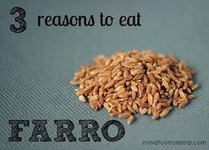 3 Reasons to Eat Farro via mindfulmomma.com