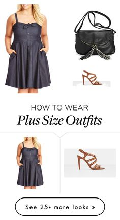 """plus size woman"" by nicoline-anders on Polyvore featuring City Chic, Avenue and MANGO"