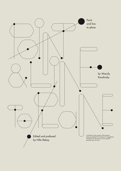 point and line to plane: book on behance.