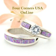 Four Corners USA Online - Size 7 1/2 Engagement Bridal Wedding Ring Set Pink Fire Opal Native American Silver Jewelry WS-1465, $225.00 (http://stores.fourcornersusaonline.com/size-7-1-2-engagement-bridal-wedding-ring-set-pink-fire-opal-native-american-silver-jewelry-ws-1465/)