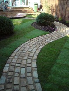 """It would be cool to do this in binary for """"home"""" leading to the front porch! It would be cool to do this in binary for """"home"""" leading to the front porch! Front Garden Path, Stone Garden Paths, Back Garden Design, Backyard Garden Design, Backyard Walkway, Front Yard Landscaping, New Patio Ideas, Garden Shed Interiors, Beautiful Home Gardens"""