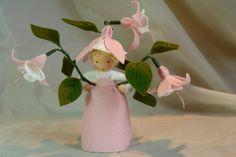 Fuchsia Flower Child Waldorf Inspired door KatjasFlowerfairys