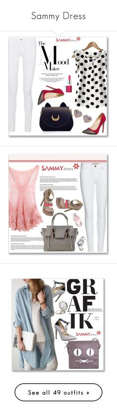 """Sammy Dress"" by amra-mak ❤ liked on Polyvore featuring sammydress, Frame Denim, Clinique, Wildfox, Burberry, Cuero, Elie Saab, Henri Bendel, Bridge & Burn and Retrò"