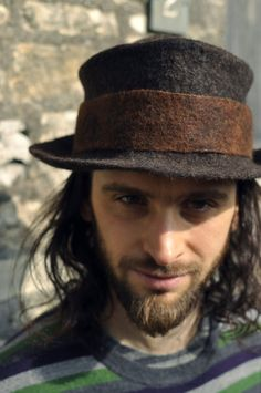 Hand felted wool hat trilby fedora  men women by Innerspiral, £110.00