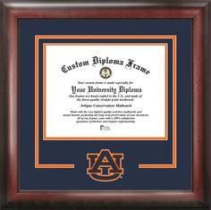 California University of Pennsylvania Diploma Frame with photo and wood frame Cherry, Walnut