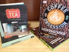 Essential reading materials for #coffee and #tea lovers. We have copies of Coffee Obsession and Modern Tea in our shop #coffee #tea #gift