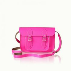 Cambridge Satchel Fluoro Pink