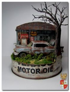 Old Gas Station | Webkits Modelismo