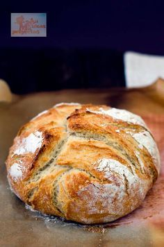 Homemade bread without kneading Pan Bread, Bread Baking, Easy Cooking, Cooking Recipes, Bread Recipes, Bakery, Food And Drink, Yummy Food, Favorite Recipes