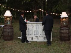 Drink station - Romantic Weddings on a Budget: DIY Wedding Decorations and Ideas