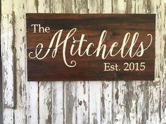 Custom Family Name sign - Established - barn wood - reclaimed barn wood