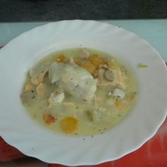 Blanquette de cabillaud au Thermomix Cheeseburger Chowder, Soup, Breakfast, Fish, Dinner Entrees, Original Recipe, Sweet Recipes, Pisces, Morning Coffee