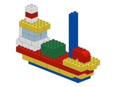 Have fun with these great lego examples for all ages. The lego instructions are explained step by step. Building For Kids, Lego Building, Boat Building, Building Plans, Legos, Lego Boot, Modele Lego, Lego Club, Lego Activities