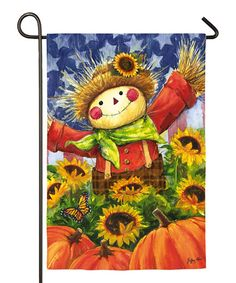 Take a look at this Joyful Scarecrow Garden Flag today!