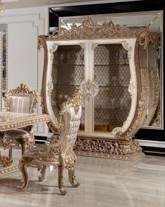 Luxury Dining Room, Entryway Tables, Mirror, Buffet, Furniture, Home Decor, Decoration Home, Room Decor, Mirrors