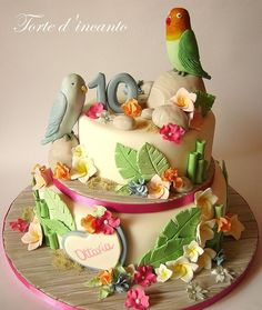 Budgie birthday cake