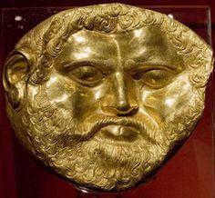 Thracian gold mask, Bulgaria