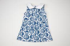 Navy Apple Dress Organic Dress Tank Dress by TheSproutedArrow