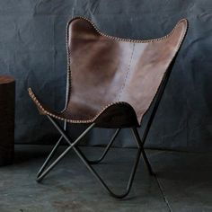 Like those regular, boring fold-out chairs. But LEATHER.