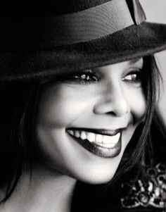 Janet Jackson. Luv the hat