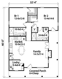 Country House Plan 45155 Level One