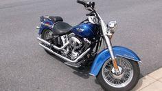 2010 Harley-Davidson FLSTN Cruiser , blue pearl, 9,135 miles for sale in Ephrata, PA