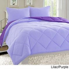 Solid Purple Dobby Stripe, Hotel Collection Comforter Set   Purple Bedroom  Ideas | Purple Bedroom Ideas | Pinterest | Purple Bedrooms, Comforter And  ...