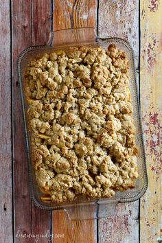 Easy Apple Crisp Recipe - Out of the Oven Above 1 - Dreaming in DIY