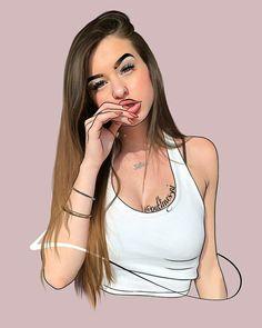 Bff Drawings, Tumblr Drawings, Chicano Drawings, Girl Cartoon, Cartoon Art, Tumblr Girl Drawing, Hearly Quinn, Instagram Cartoon, Ariana Grande Drawings
