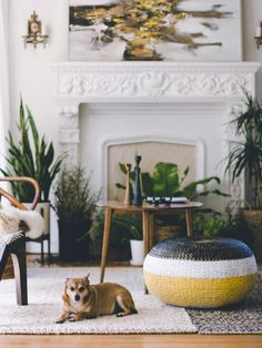 just so good. ++ OLD BRAND NEW: BEFORE + AFTER : RATTAN POUF / @DABITO