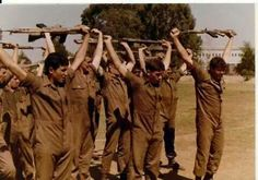 South African Conscripts - Basic training PT lame arms afterwards