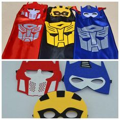 Transformers Masks & Capes Superhero Costume Great for Boy