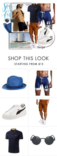 """Sea time 44."" by merimaa997 ❤ liked on Polyvore featuring Hackett, Puma, men's fashion and menswear"