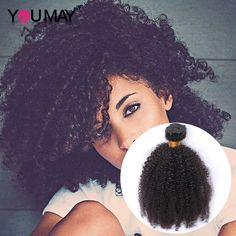 7A Mongolian Kinky Curly Hair Afro Kinky Curly Virgin Hair Human Hair Weaves Natural Black Color You May Official Store In Stock