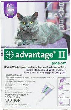 Advantage II Topical Flea Control  Over 9 lbs  6 pack >>> Read more reviews of the product by visiting the link on the image.