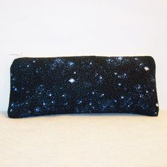 "Black Night with Stars Cotton Padded Pipe Pouch 7.5"" / Glass Pipe Case / Spoon Cozy / Piece Protector / Pipe Bag / LARGE by PouchAPalooza on Etsy, $13.00"
